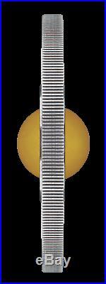 Australia GOOD LUCK ROTATING Yellow Topaz CHARM 2018 $1 1oz Silver Antiqued Coin