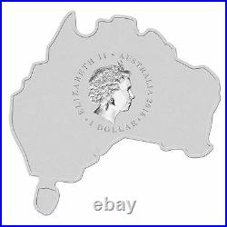 Australia MAP SHAPED COIN SERIES 2015 Redback Spider 1 OZ SILVER proof COIN