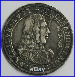 Austria 1654 Ferdinand Charles Silver Thaler