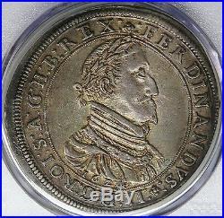 Austria Graz 1624 Ferdinand II Silver Thaler PCGS AU55