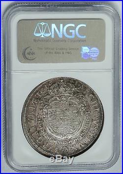 Austria Graz 1641 Ferdinand III Silver Thaler NGC AU55