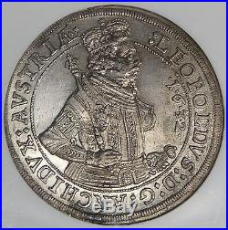 Austria Hall 1632 Leopold Silver Thaler NGC MS61