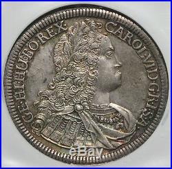 Austria Hall 1725 Charles VI Silver Thaler NGC MS62