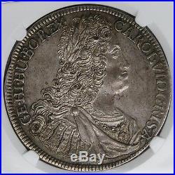 Austria Hall 1732 Charles VI Silver Thaler NGC MS62