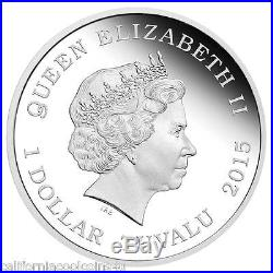 BACK TO THE FUTURE DeLorean 30th Anniversary 1oz Silver Proof Coin Tuvalu 2015