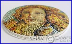 BIRTH OF VENUS Great Micromosaic Passion 3 Oz Silver Coin 20$ Palau 2017