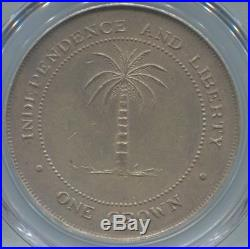 Biafra Crown 1969 Pcgs Au58 Km 5 Extremely Rare