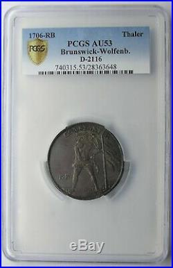Brunswick-Wolfenbuttel 1705 Wildman Silver Thaler PCGS AU53