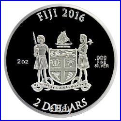 CAPTAIN AMERICA SHIELD 75TH ANNIVERSARY 2016 2 oz Proof Silver Domed Coin