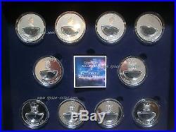 COMPLETE COLLECTION! Meteorite coins Fiji $10 Cosmic Fireballs, 2012, 2013, BOX