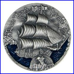 Cameroon 2019 Queen Anne's Golden Age of Sail 2000 Francs Silver Coin