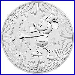 Certified Roll-20 2017 Silver Mickey Steamboat Willie NGC GEM BU ER SKU46666