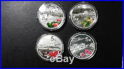 China 2014 One Set (4 Pieces of 1/2oz Silver Coins) World Heritage West Lake