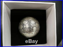 China 2017 One Kilo Silver Ball/Medal 35th Ann. Of Issuance of Panda Gold Coin