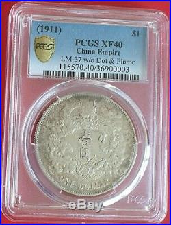 China Dollar Empire Silver (1911) Very Rare Pcgs Certified