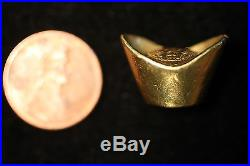China Sycee Vintage Gold Ingot Dish YuanBao Gold Tael Silver COLLECTION LOT
