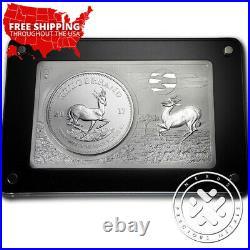 CoA #18 2017 South Africa 3 oz Silver 50th Anniv Krugerrand Coin & Bar Set withBox