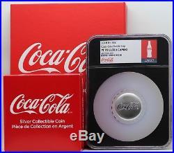 Coca-Cola 2018 Fiji Bottle Cap 1 Oz 999 Silver $2 Coin NGC PF70 Box COA JY709