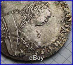 Coin Ruble 1753 M. M. D. Elizabeth! Good! 90% Silver (2)