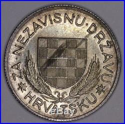 Croatia, Kroatien 5 KUNA 1934. UNC PATTERN silver KM # Pn7