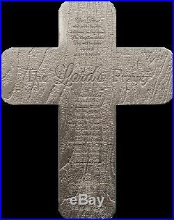 Crucifix 2oz. 999 Silver Antique Finish Medal