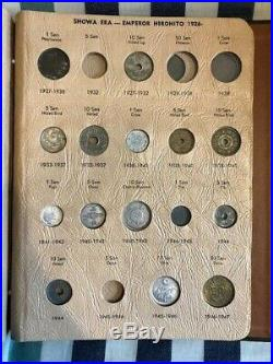 Dansco Japan Partial Type Set Silver Copper Coins Meiji Taisho RARE ALBUM
