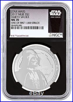 Deal! 2017 Niue Silver Star Wars Vader $2 NGC MS70 1/First 1,000 Black SKU48064