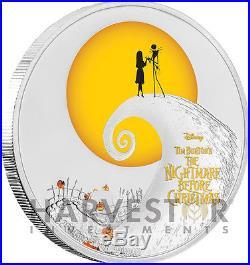 Disney Tim Burton The Nightmare Before Christmas 1 Oz. Silver Coin Ogp
