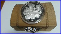 Disney World A Pirate's Life For Me Super Rare 999 Silver Coin Chest Coa #c