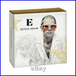 ELTON JOHN 2020 £10 5oz SILVER PROOF COIN VERY RARE 750 MINTED WORLD WIDE