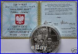 EURO 2012 POLAND-UKRAINE 2 Puzzle Coins Proof 2Oz Silver UEFA World Cup Football