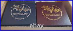 End of World War II 75th Anniversary 24-Karat Gold Coin AND Silver Medal SET