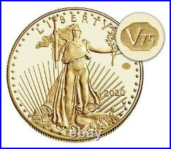 End of World War II 75th Anniversary American Eagle Gold + Silver Coin