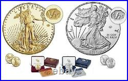 End of World War II 75th Anniversary American Eagle Gold & Silver Proof Coin