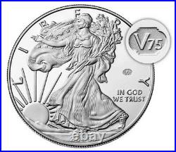 End of World War II 75th Anniversary American Eagle Silver Proof Coin