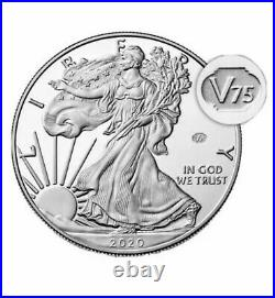 End of World War II 75th Anniversary American Eagle Silver Proof Coin- In Hand