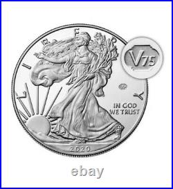 End of World War II 75th Anniversary American Eagle Silver Proof Coin NGC PF70