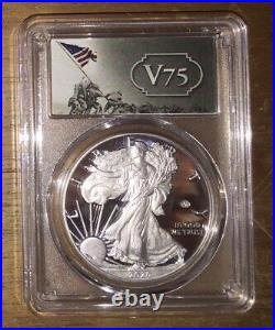 End of World War II 75th Anniversary American Eagle Silver Proof Coin PCGS PR 70