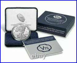 End of World War II 75th Anniversary American Eagle Silver Proof Coin UNOPENED 2