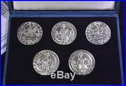 FIRST DOLLAR OF THE WORLD, 1486 Austria Guldiner Silver 1986 Restrike 5 COIN SET