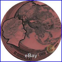 FUKANG METEORITE THE WORLD OF METEORITES 2 Oz Silver Coin 5$ Niue 2 PRESALE