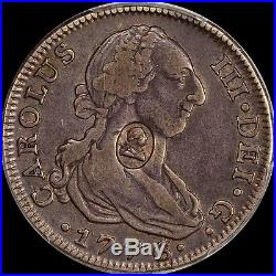 Finest Known @ Ngc & Pcgs Vf30/xf40 1776 4 Reale 4r 1797 Great Britain Toned