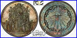 Finest & Only One @ Ngc & Pcgs Ms64 Confirmation Medal Silver Toned Germany