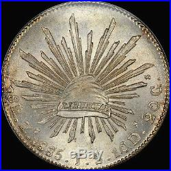 Finest & Only @ Pcgs & Ngc Ms66 1885 Zs-js 8 Reales Ngc Ms66 Flashy Uber-gem