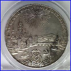 Frankfurt 1772 City View Silver Thaler PCGS AU58