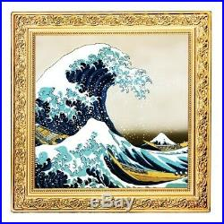 GREAT WAVE Treasures of World 1 Oz Silver Coin 1$ Niue 2020