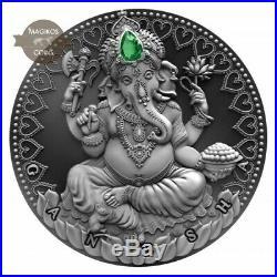 Ganesha World Cultures 2 Oz silver coin 2019 Cameroon 2000 Francs