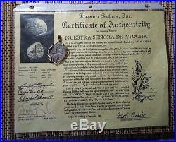 Genuine Atocha 8 Reales Silver Spanish Treasure Cob Coin 14K Jewelry Custom Pend