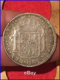 George 3rd Silver 8 Reales Mexico 1792 GVF