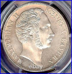 German States Bavaria 1855 2 Gulden Taler Coin Thaler PCGS MS 64 Madonna F. STG